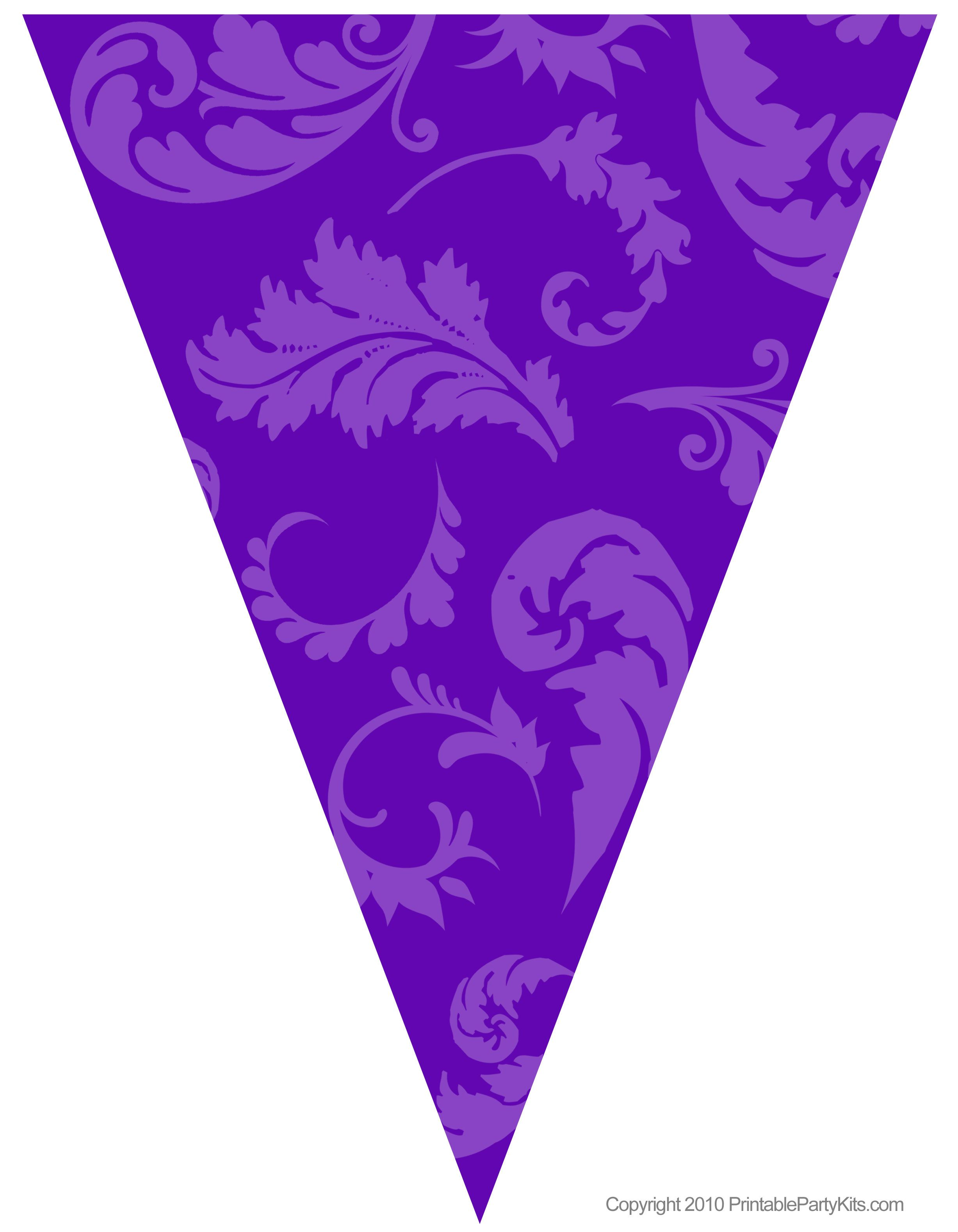 Free Graduation Party Flag Decorations Printable Party Kits Party Flags Flag Decor Purple Party Decorations