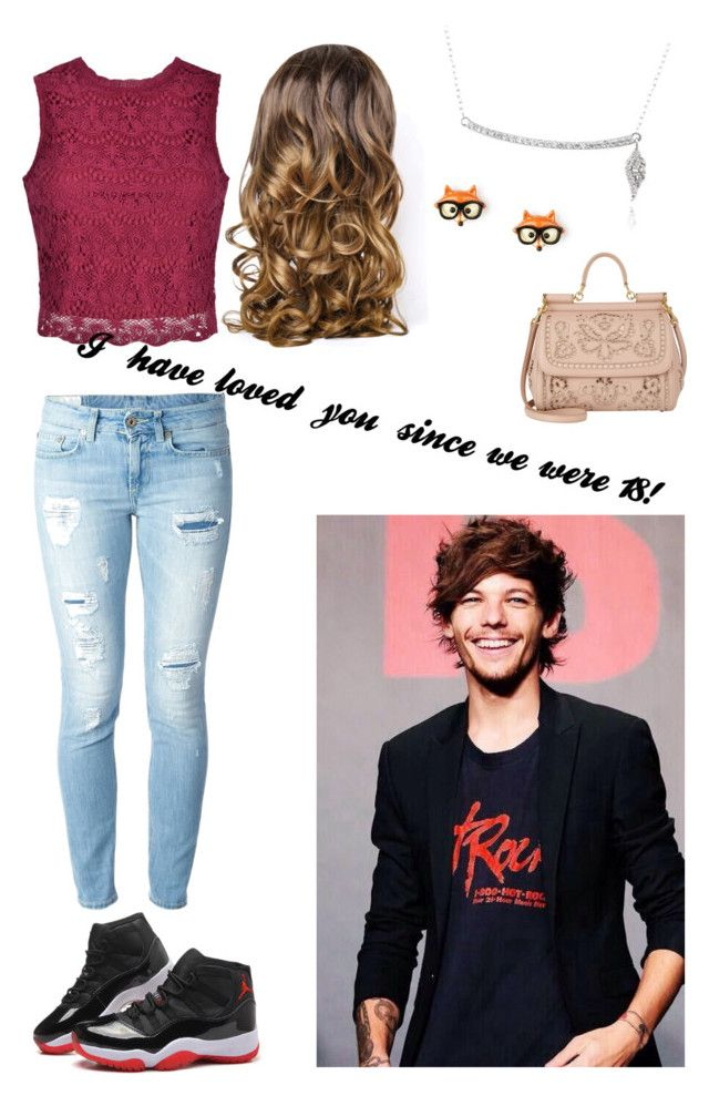 """""""Louis short imagine below! ;-)"""" by ann-charlotte-amundsen ❤ liked on Polyvore featuring beauty, Icz Stonez, Dolce&Gabbana, Ally Fashion, Dondup, Lipsy, cute, OneDirection, 18 and imagine"""