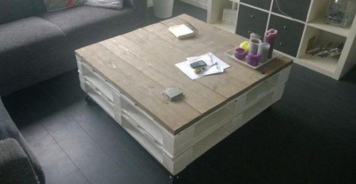 Leuke Salon Tafel.Leuke Salontafel Van Pallets En Steigerhout Home