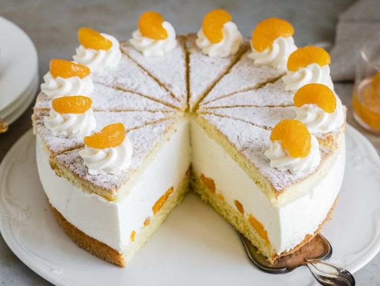 Photo of Cheese cream cake with mandarins – simple & airy delicious The …