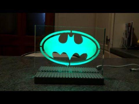 Make An L E D Emblem Light Led Diy Led Lamp Design Batman Diy