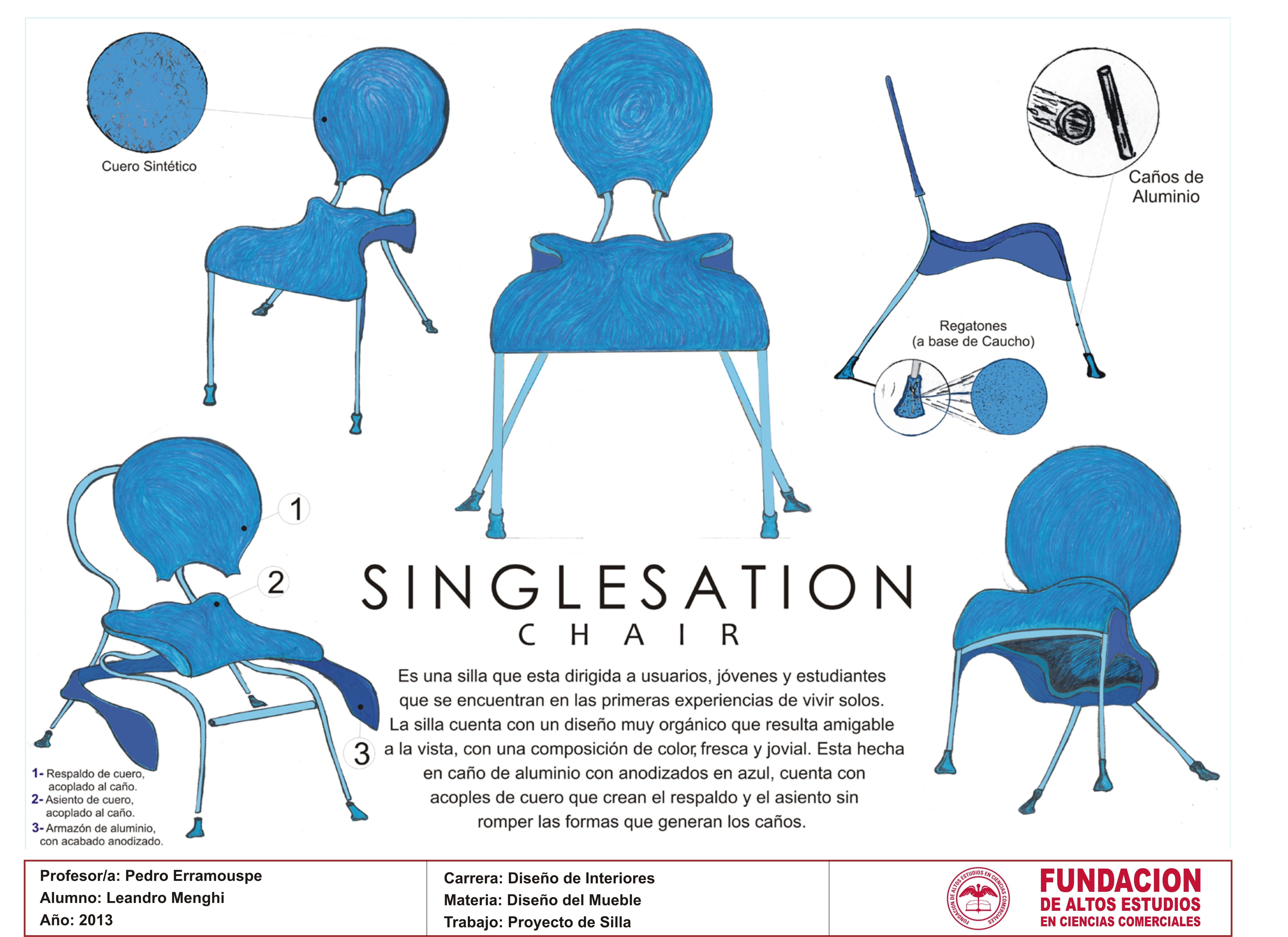 Trabajo Proyecto De Silla Realizado En La Materia Dise O De  # Muebles Leandro