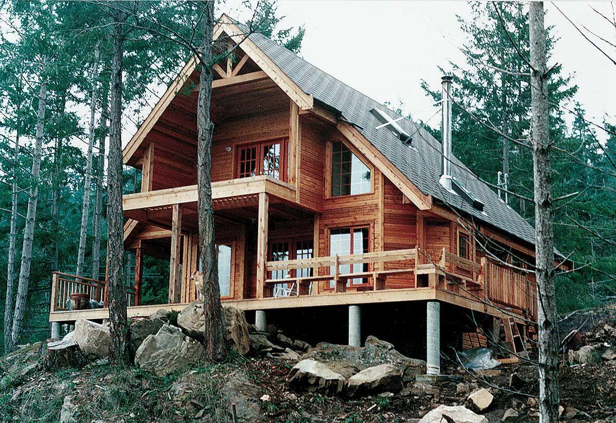 Plan 9801sw Designed To Capture Views Cottage House Plans Country Style House Plans A Frame House Plans