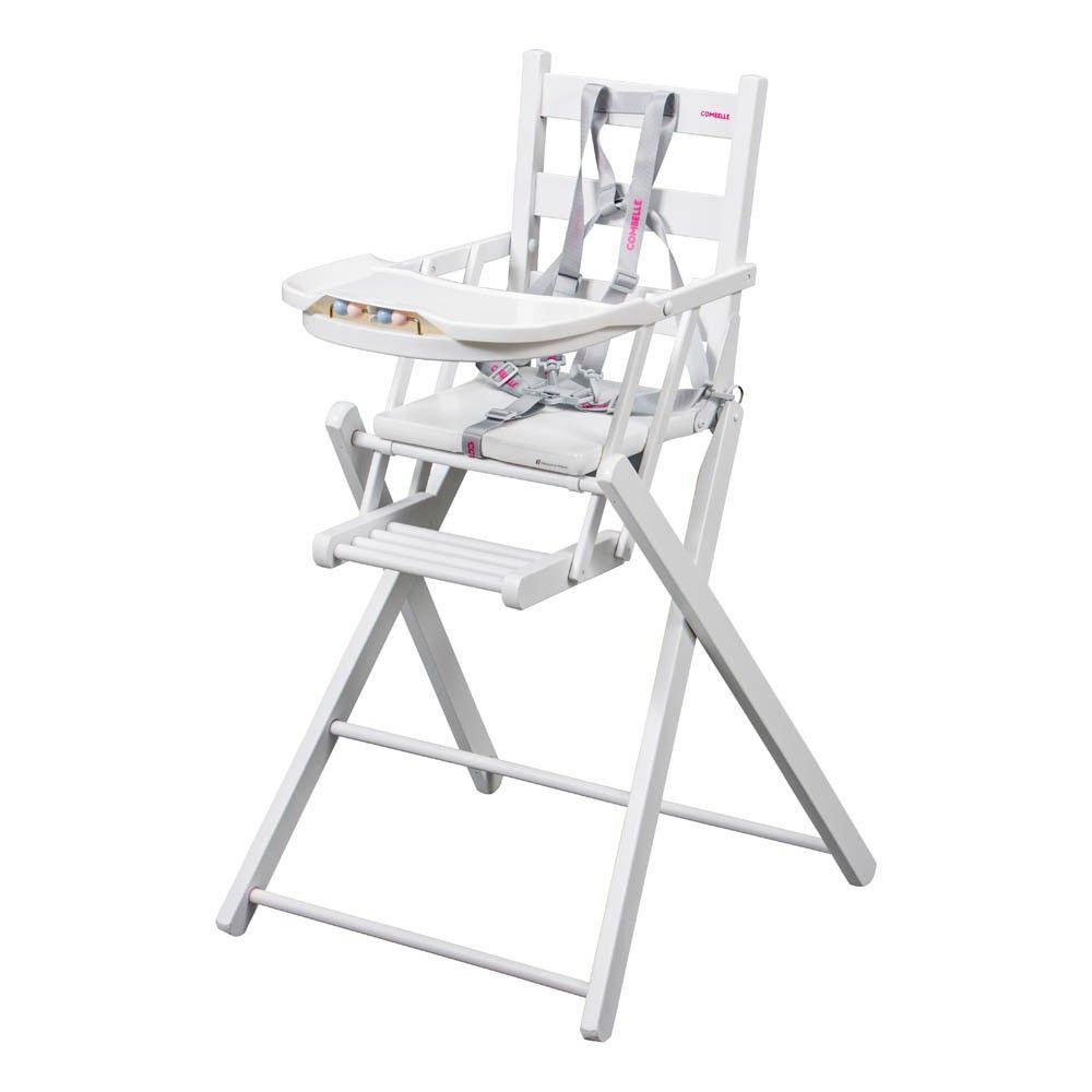 Chaise Haute Extra Pliante Sarah Laque Blanc Combelle Design Chaise Haute Chaise Chaise Haute Pliante