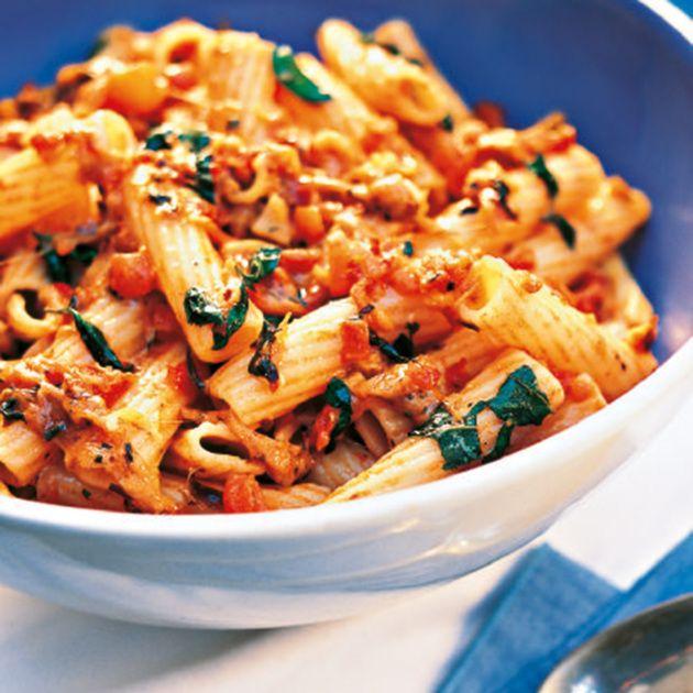 Rigatoni mit Tomaten und Mozzarella #foodrecipies