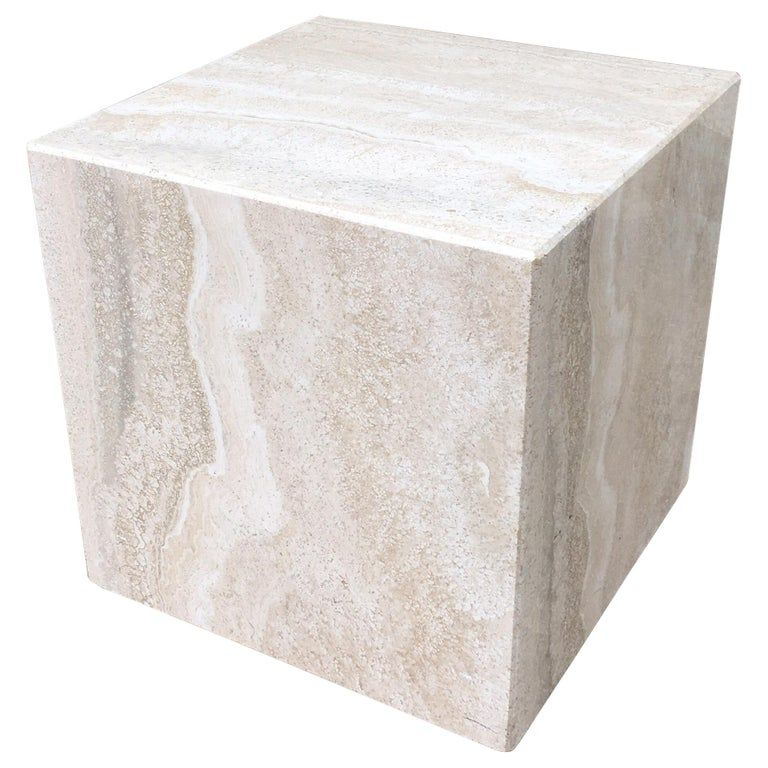 Travertine Cube | From a unique collection of antique and ...