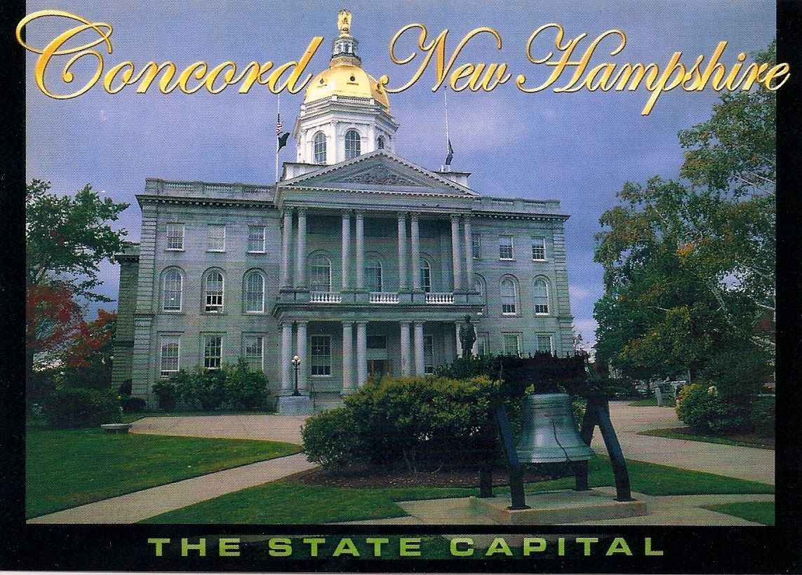 New Hampshire State House postcard-- sent to Germany via Postcrossing