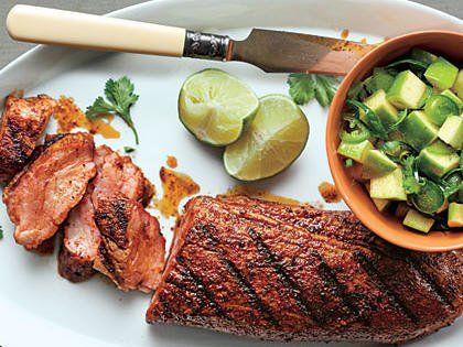 Spanish Pork with AppleCitrus Salsa Recipe Pork