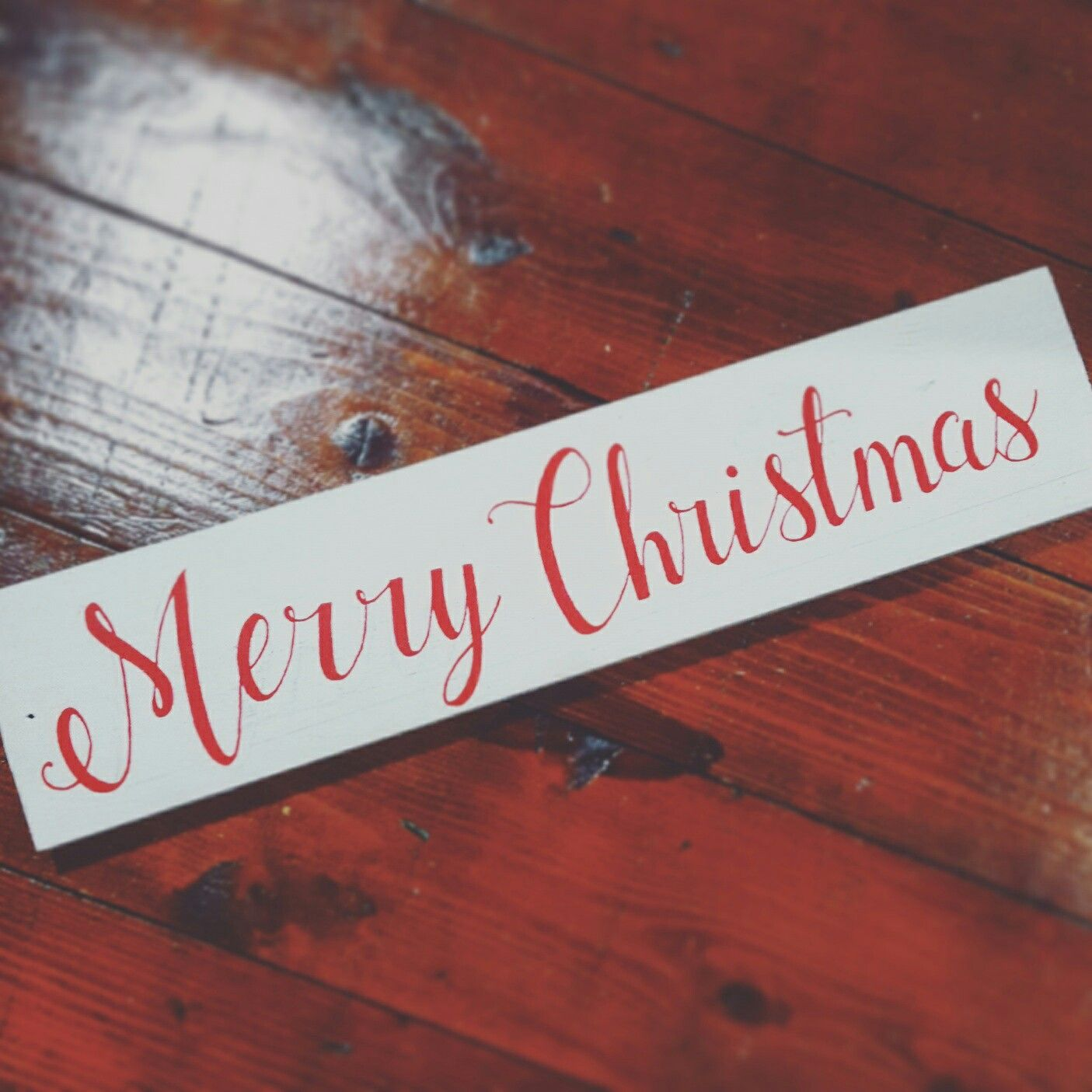 Merry Christmas Rustic Holiday Sign