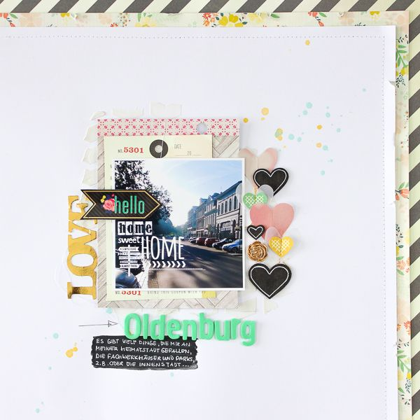 Janna Werner: scrapbooking page with Crate Paper 'Close Knit' and Maggie Holmes 'Flea Market' collections