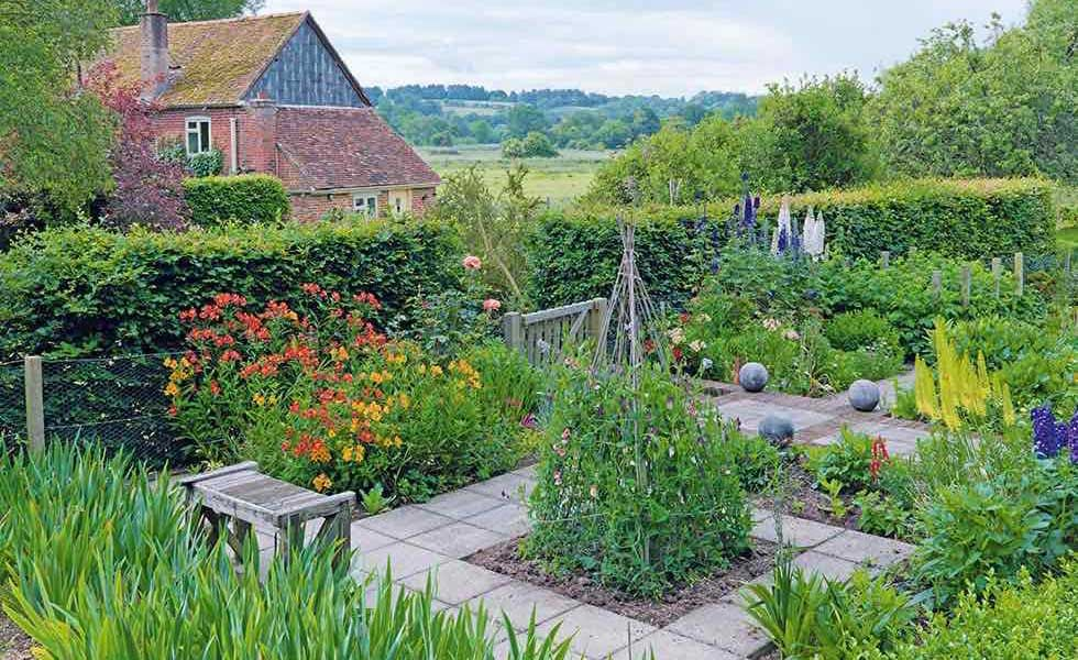 A Beautiful Blend Of Cottage Garden And Kitchen Garden