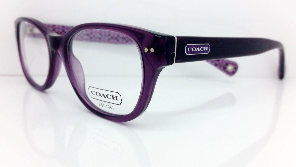 5b50ff6a317 New COACH Eyeglasses HC 6029 (Susie) T 5043 (Purple) 49-17 135  COACH