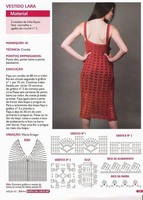 Vestido Maxi Italiano Clasico Patron - Patrones Crochet dress ...