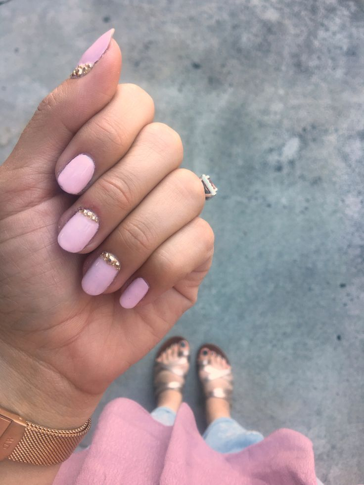 Blush Gold Stud Nail Art Best Of Bloggers Pinterest Stud