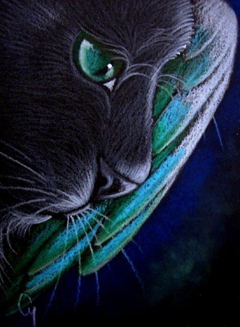 Art: BLACK ANGEL CAT 1 by Artist Cyra R. Cancel