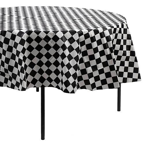Black White Checkered Round Table Covers Round Table Covers Table Covers Fifties Party