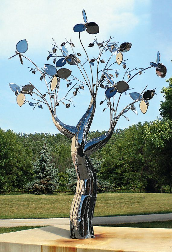 Evolution Of Flora Collection Custom Commissioned Stainless Steel Sculpture By Stillman Steel Art Tree Sculpture Tree Art