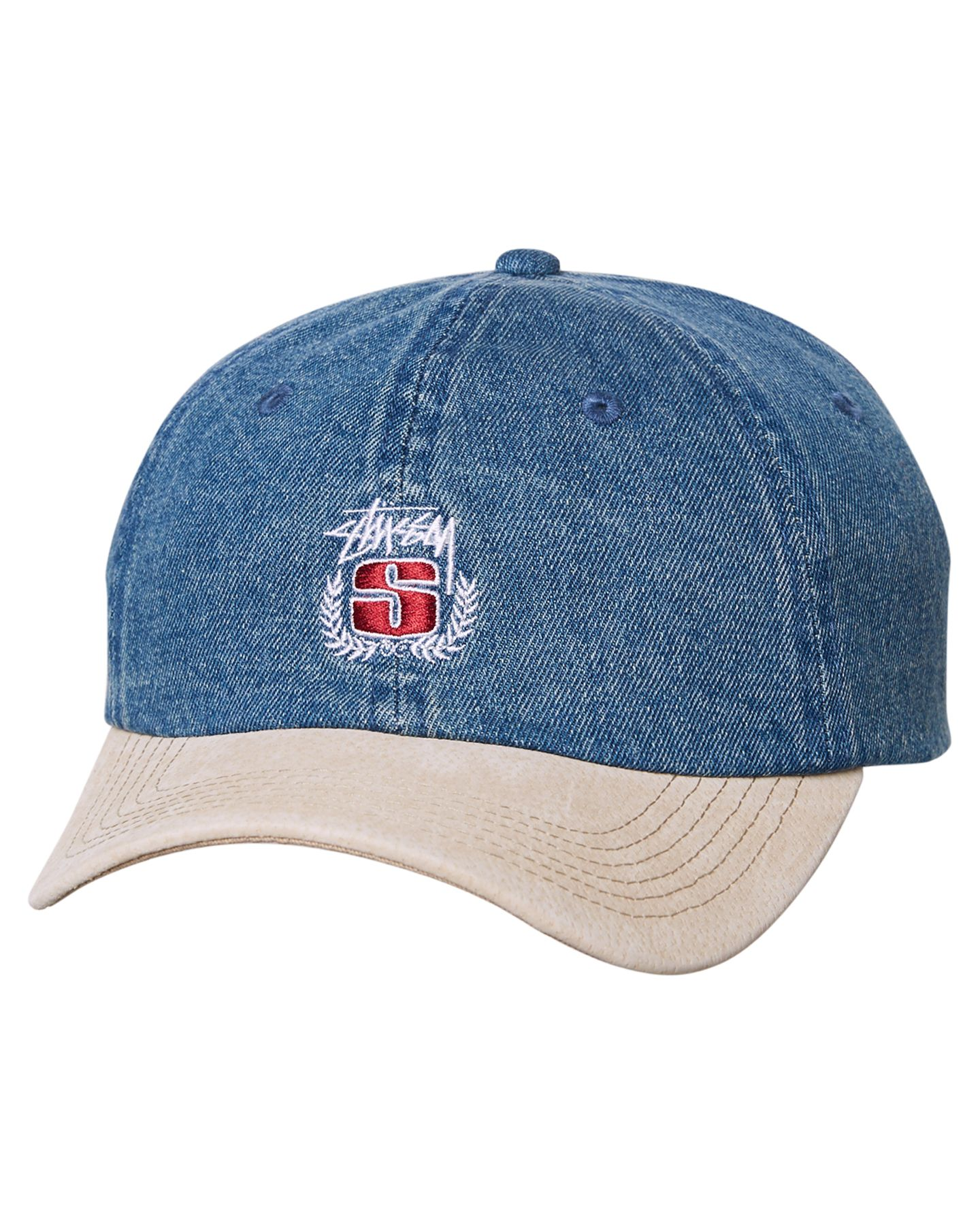 ac2c1a844f3 Purchase this before it goes Stussy Denim Suede Crest Strapback Cap Blue -  http