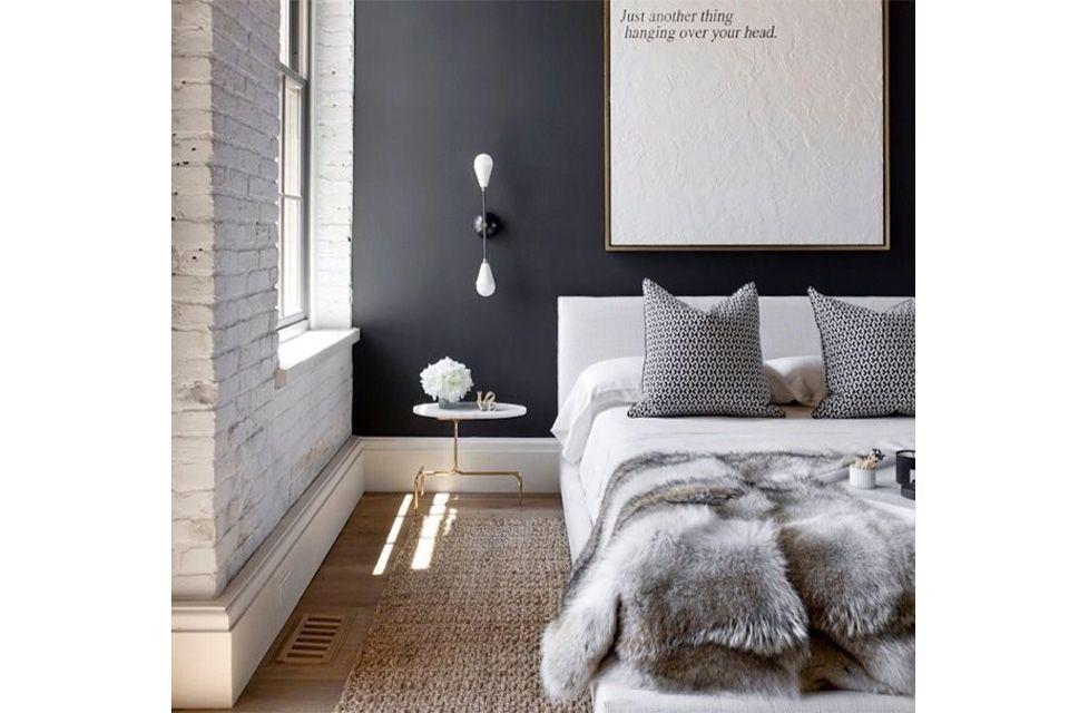Diseño simple y moderno para tu cuarto  Del blanco al negro, una gama clásica aplicada para crear una estética moderna
