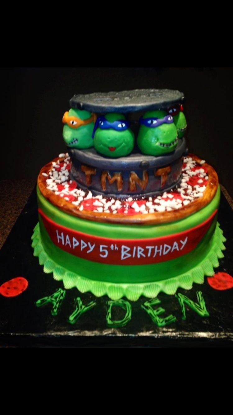 Ninja turtle birthday cake turtle birthday cake