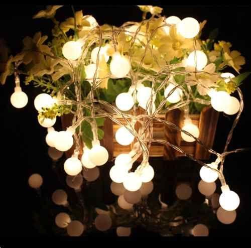 Guirnalda Alambre 10 Focos Led 2mts A Pilas Decoracion Opvip 450 15 Guirnalda De Luces Luces De Estrellas Luces Led De Navidad