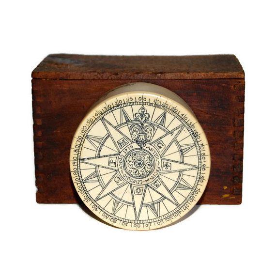 Artek Rose Compass Box Vintage Handmade Save The Whale Scrimshaw Faux Ivory Jewelry Box Folk Art Nautical Home Decor Collectibles C1970 Scrimshaw Antiques Etsy