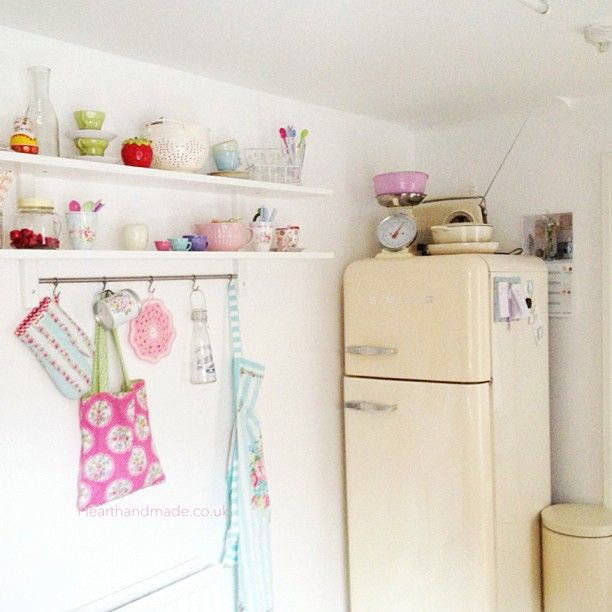 A Corner Of My #kitchen #ikea #smeg #greengate