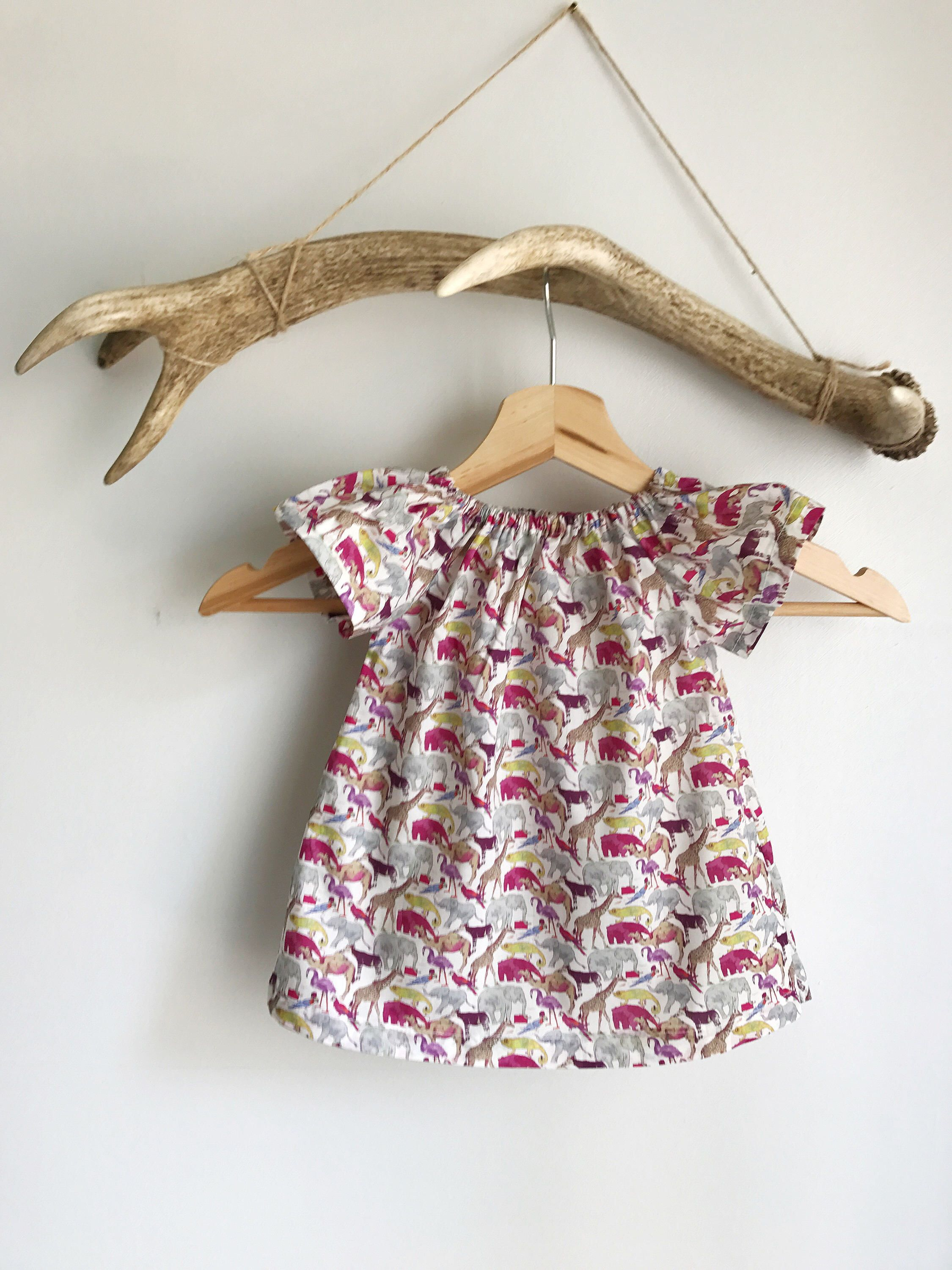 Baby girls summer dress in Liberty print Liberty print summer