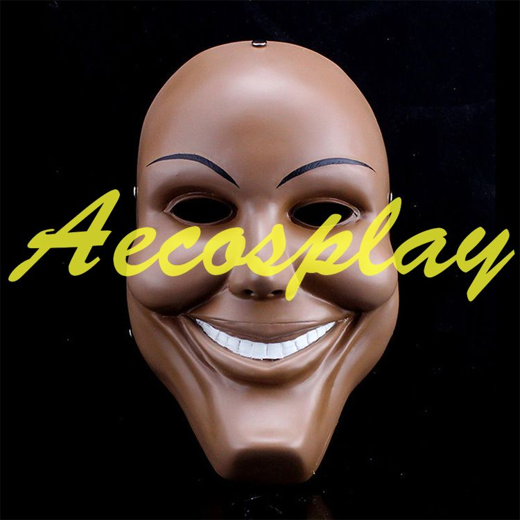 Click to Buy << Men Resin Scary Smile Face Halloween Mask The ...