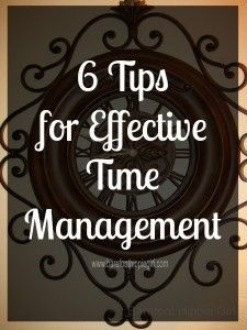 Tips Effective Time Management  Organize It