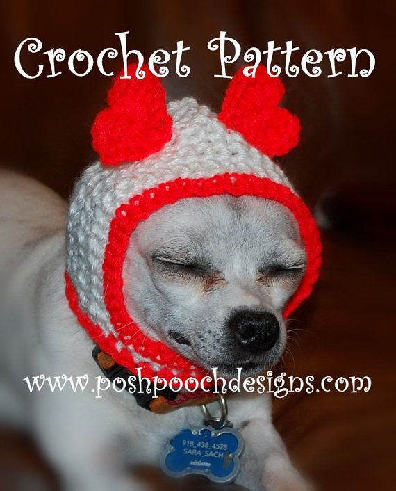a9fd7704c55 Instant Download Crochet Pattern - Hood Dog Hat - Small Dog Hood ...