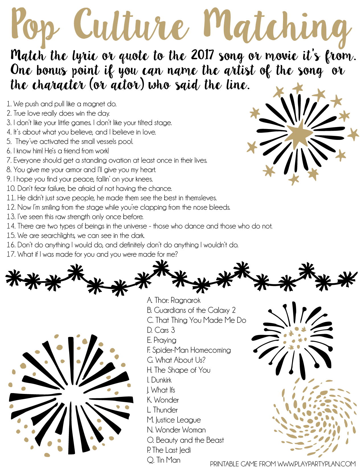 Free Printable Trivia Games For New Year S Eve