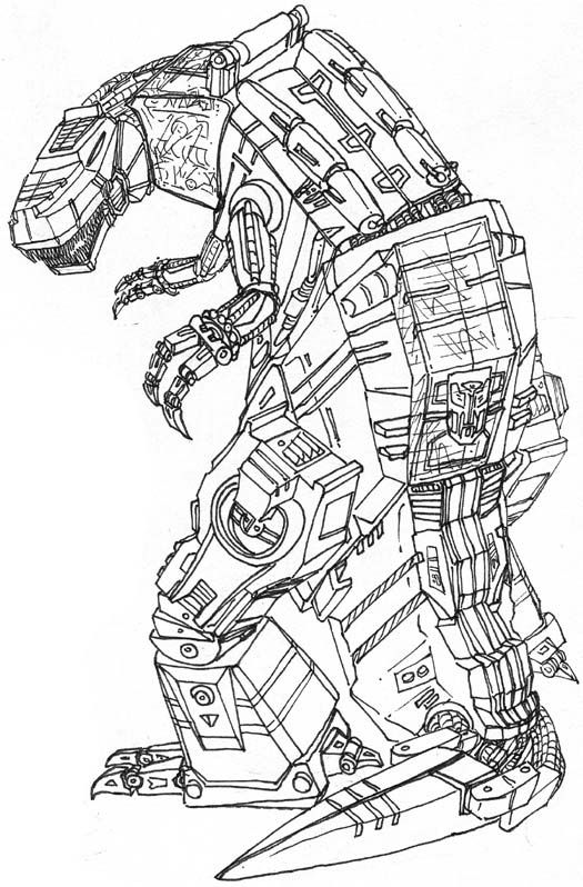 Transformers Coloring Pages Grimlock (With images