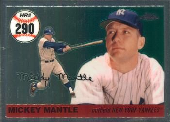 2006 Topps Chrome Mantle Home Run History Mhr290 Mickey Mantle Front Mickey Mantle Mantle Homerun