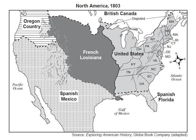 North America In 1803 Maps Us Geography Map Geography - Map-of-us-1803