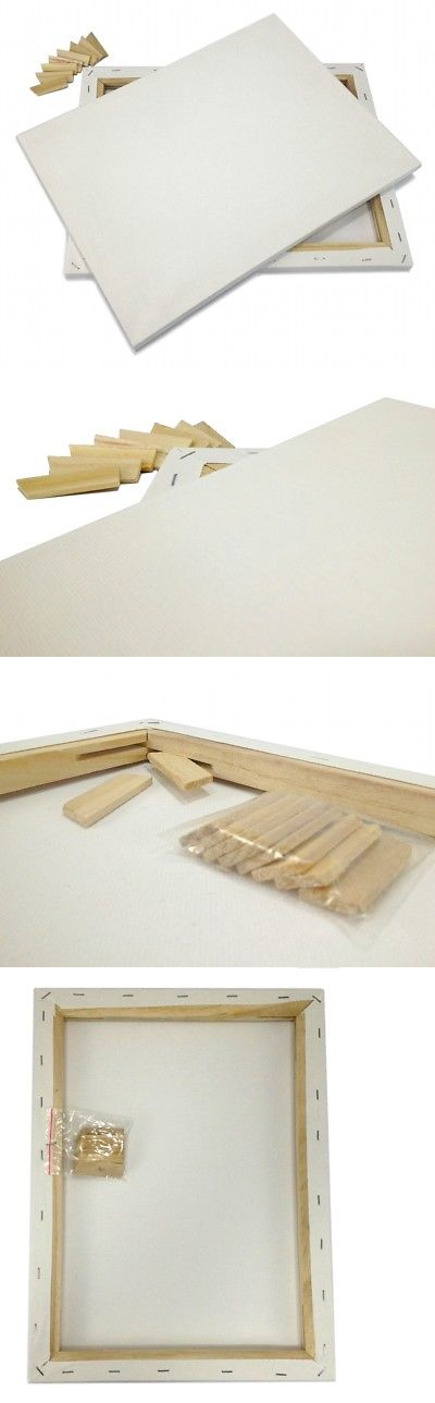 Stretched Canvas and Boards 125229: Lot Of 8 Artist Canvas 16X20 ...