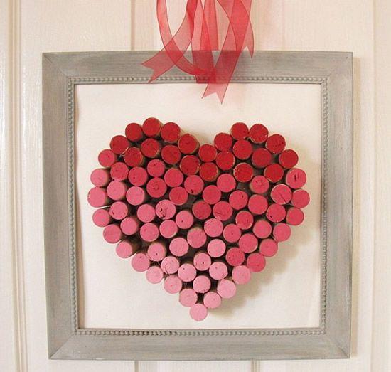 Aparador Conforama ~ Artesanato com rolhas para o Dia dos Namorados Rolhas, Coraç u00e3o e Namorado