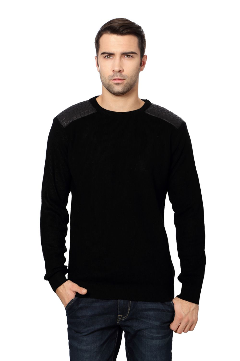 Van Heusen Black Sweater - 1875 | Cool Sweater Designs | Pinterest