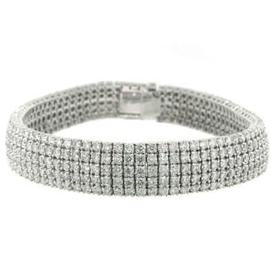 10.37ct Round Brilliant Cut Diamond Bracelet