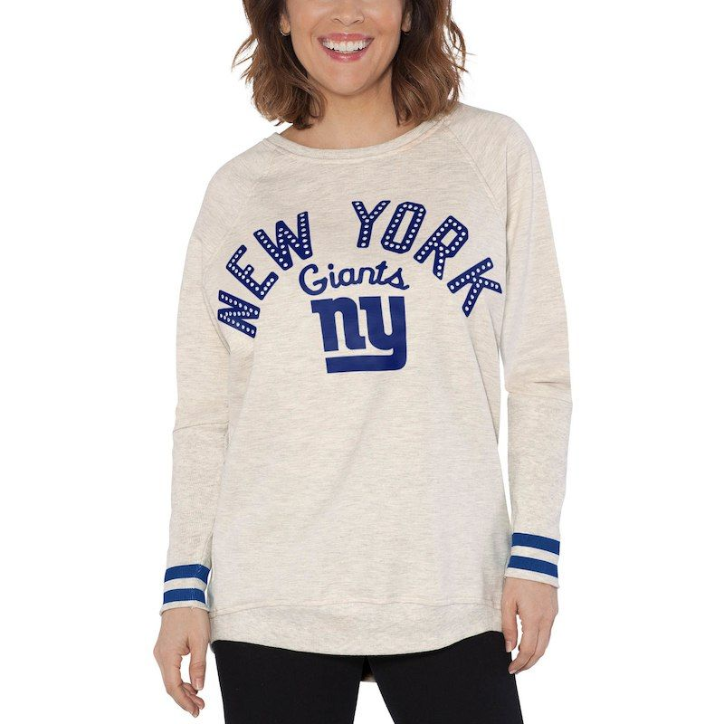 New York Giants Touch by Alyssa Milano Women s Backfield Sweatshirt – Cream 6df48da77