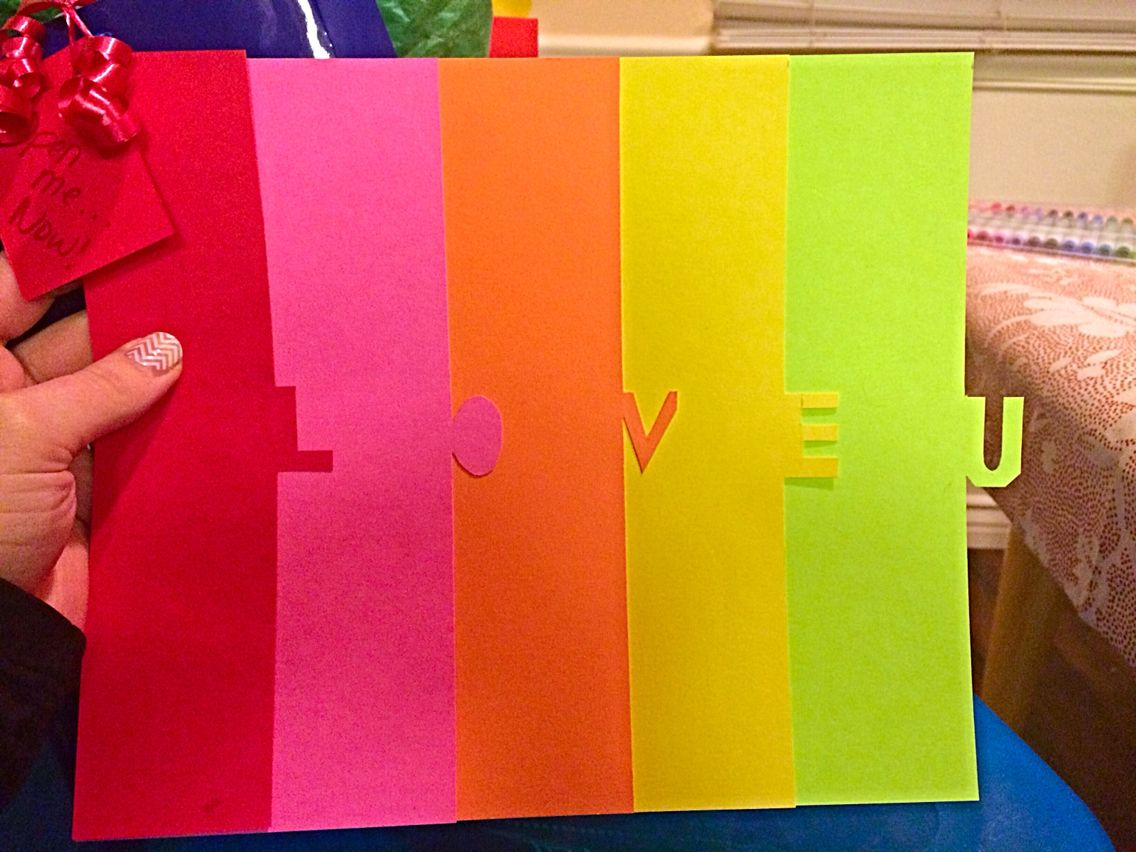 Diy anniversary card write a note on each color and to a