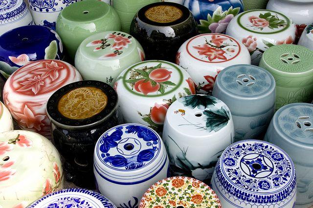 Ceramic stools in Shek Wan