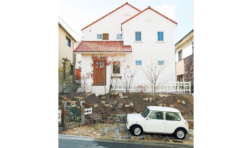 めざしたのは 建てたときから古びている家 レンガの家 家 外観