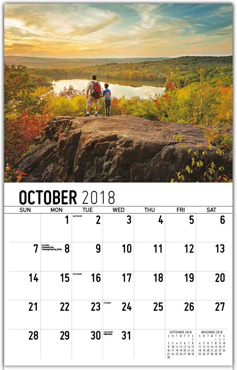 Beautiful Wall Calendar October 2018 Wall Calendar Calendar Beautiful Wall