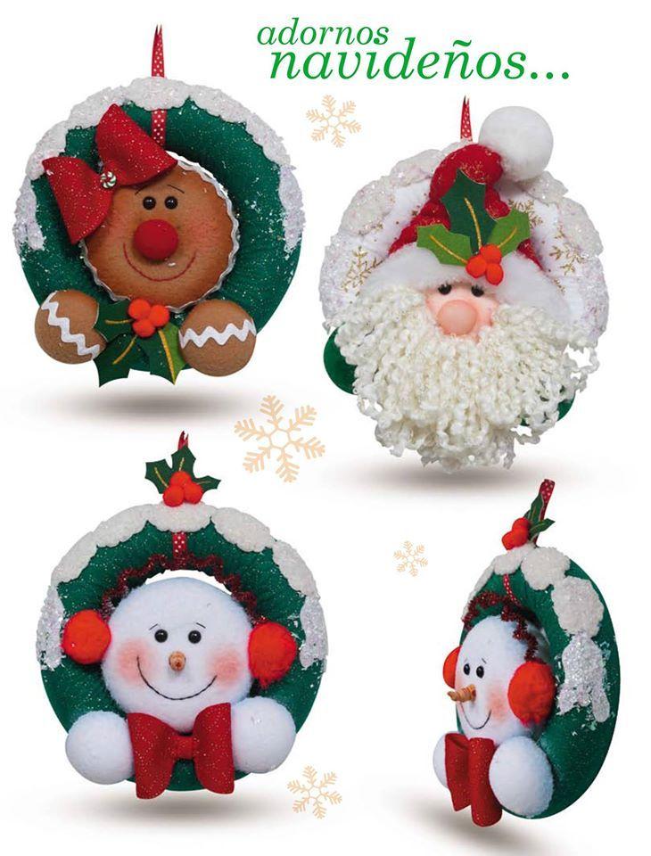 Moldes o patrones para elaborar hermosos mu ecos de - Munecos de navidad ...