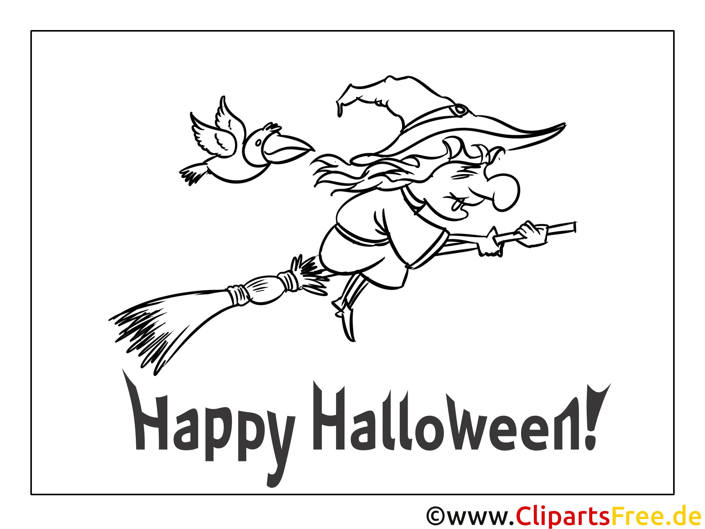 ausmalbilder halloween hexe  ausmalbilder