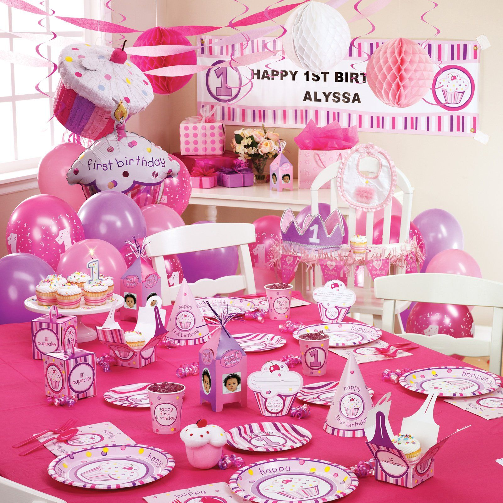Girls Lil Cupcake 1st Birthday Ultimate Party Pack baby birthday