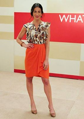 How not to love Stacy London and her looks? Gorgeous skirt!