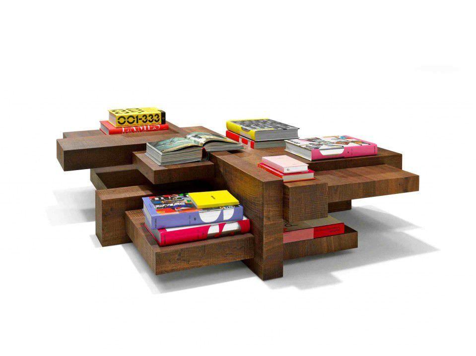 Table basse / design original / en bois MANHATTAN by Roderick Vos Linteloo