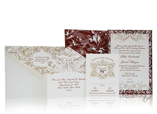 Venetian Wedding Invitations Ceci New York For The Breakers